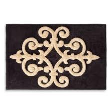 29 99 bombay sarto 20 inch x 30 inch bath rug gold on black