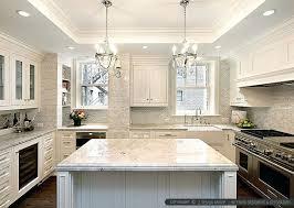 pictures of kitchen backsplashes with white cabinets white kitchen backsplash glassnyc co