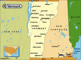 map of united states with states and cities labeled state map vermont cities search maps