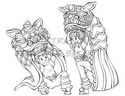 lion dancer book lion coloring page by arleea on deviantart