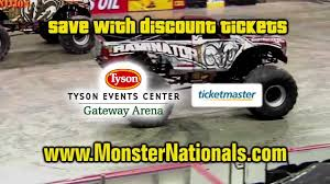 ticketmaster monster truck show a monster nite out is coming to tyson events center youtube