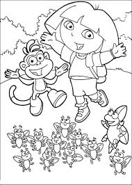 kidscolouringpages orgprint u0026 download dora and diego coloring