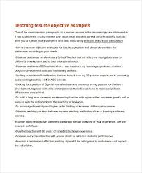 Resume Objective For It Job by Teacher Resume Examples 23 Free Word Pdf Documents Download