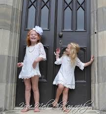 autumn soft white flower lace dress dress for