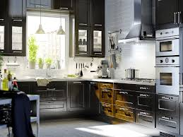 floor interesting black and white kitchen decoration using black