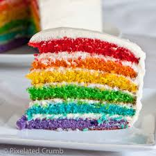 rainbow cake and a giveaway pixelated crumb