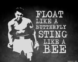 float like a butterfly sting like a bee steemit