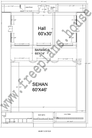 80x112 feet 2739 square meter masjid plan
