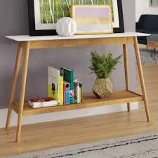 Mid Century Console Table Mid Century Modern Console Sofa Tables You Ll Wayfair