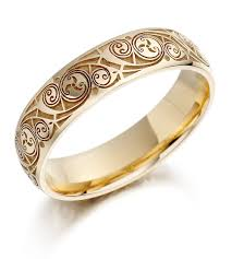 band gold wedding rings wedding ring mens gold celtic spiral triskel