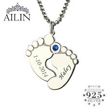 mothers necklaces with names and birthstones personalized baby birthstone necklace name date