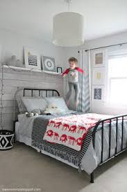 modern vintage sports bedroom for a boy room reveal by www