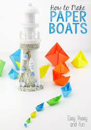 How To Make Boat From Paper - how to make a paper boat origami for easy peasy and