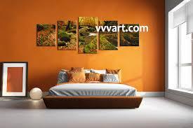 5 piece canvas forest multi panel art canvas prints scenery canvas prints landscape prints bedroom decor forest wall art