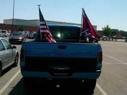 Flag Pole Mount For Truck Bed Rebel U0026 American Flag On Truck Youtube