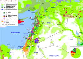 Beirut On Map The Levant U0027s Ethnic And Religous Composition Maps U0026 Cartographic