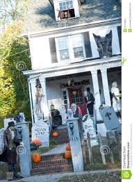 halloween decorated house extreme halloween decorating editorial photography image 34710967