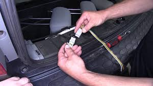 installation of a trailer wiring harness on a 2005 honda pilot
