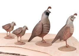 metal quail family decor set of 4 only 34 99 at garden