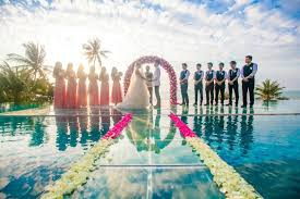 hilton bentley wedding say i do at conrad koh samui u0027s over water wedding ceremony