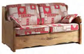 canapé convertible style montagne canapé lit express en tissu déhoussable alaska