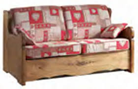 canapé express canapé lit express en tissu déhoussable alaska