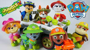 paw patrol pup tracker jungle rescue vehicles chase marshall