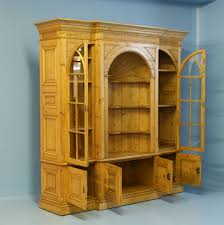 narrow pine bookcase large english pine bookcase display cabinet for sale at 1stdibs