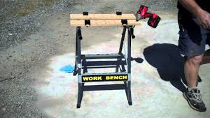 Keter Folding Work Bench Review Harbor Freight Foldable Workbench Vise Item 47844 Youtube