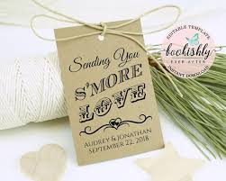 Thank You Tags Wedding Favors Templates by S More Tag Template Editable Wedding Tag Printable