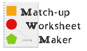 matching worksheet maker free worksheets library download and