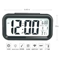 bedroom clocks battery alarm clock digital electronic alarm clock temperature and