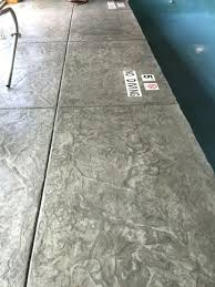 Cantilevered Deck by Stamped Concrete Pool Deck With Custom Chiseled Stone Cantilevered