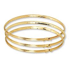 yellow bangle bracelet images Kay bangle bracelet set 10k yellow gold jpg