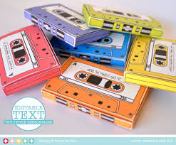 cassette tape box 7 editable boxes gift card holder party