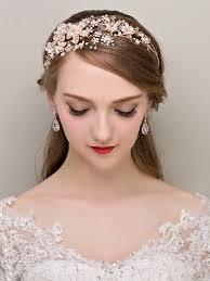 bridal headbands luxrious floral pearls rhinestone bridal headbands tiara wedding