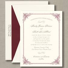 wedding invitations burgundy burgundy vintage frame warm white wedding invitations all