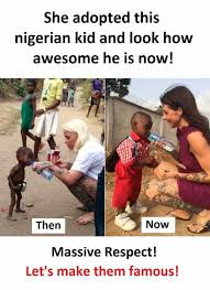 Nigerian Memes - dopl3r com memes she adopted this nigerian kid and look how