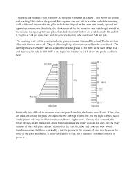 Design Of A Wooden PileandPlank Retaining Wall - Timber retaining wall design
