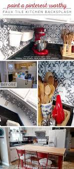 paint kitchen backsplash paint a worthy faux tile kitchen backsplash stencil