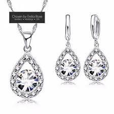bridesmaid jewellery 925 silver bridesmaid jewellery set earrings necklace