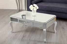 mirrored living room furniture mirrored coffee table storage drawer mirror shabby chic living