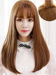 hair clip poni bangs clip poni cut depan light brown