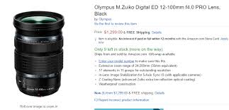 olympus camera black friday amazon olympus m zuiko digital ed 12 100mm f4 0 is pro lens in stock at