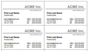 word name card template print templates for name cardsms word