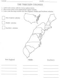 United States Map Quiz by 13 Colonies Map To Color And Label Although Notice That They Have