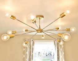 Sputnik Chandelier Free Shipping The Shepard Modern Brass Sputnik Chandelier