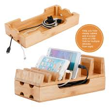 charging station levin eco friendly bamboo charging station rack