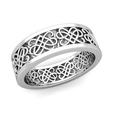 celtic knot wedding bands celtic heart knot wedding band in 14k gold comfort fit ring 7mm