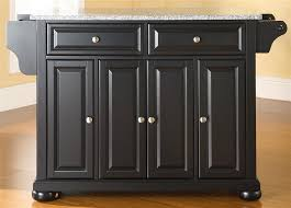 black granite kitchen island buy newport solid black granite top portable kitchen island